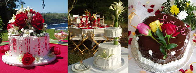 Award winning Marie Ghislaine and a gorgeous wedding cake by the sea
