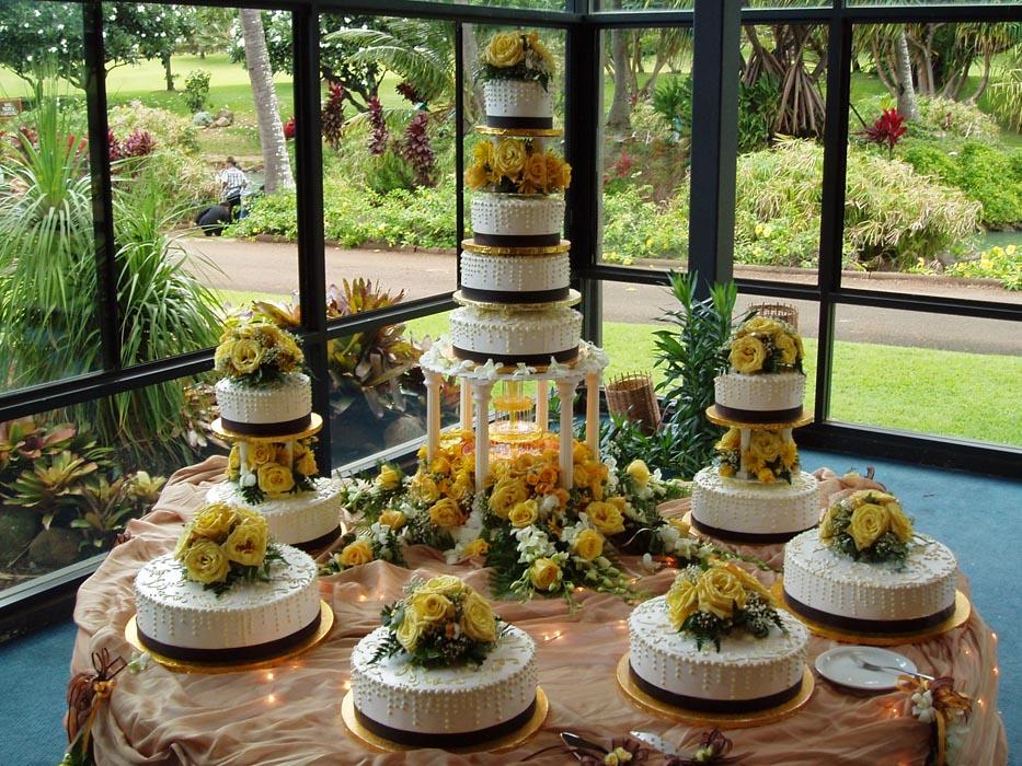maui wedding cakes flower cakes