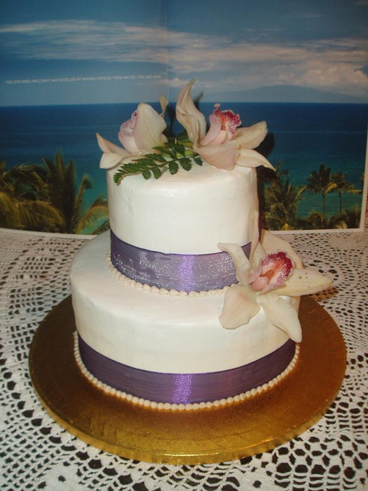 maui wedding cakes round cakes
